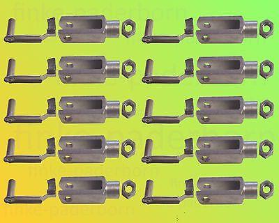 10x Gabelkopf 8x32 DIN 71752 - M8 incl Sicherungsbolzen/ES-Bolzen + Kontermutter