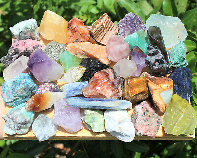 1000 Carat Lot Bulk Mixed Crafters Gems Crystal Natural Roug