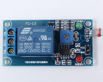 12v Photoresistor Sensor Module Light Sensor Light Detection For Arduino
