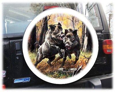 "Wildsau Jagd Reserveradabdeckung Reifencover Bezug Honda Suzuki Vitara 15""16"""