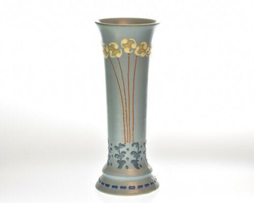 Roseville Pottery 1904-05 Floral Blue Aztec Vase #3
