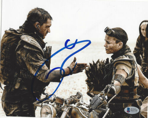 TOM HARDY SIGNED AUTHENTIC 'MAD MAX: FURY ROAD' 8x10 PHOTO 4 BECKETT COA BAS