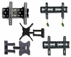 LCD-LED-3D-TV-Wall-Bracket-Mount-Tilt-Swivel-17-19-22-24-26-29-32-37-40-42-47-48