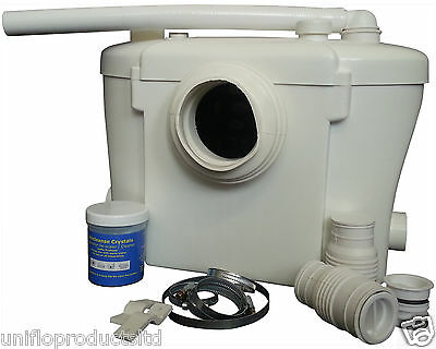 Uniflo/4 Macerator pump  with 22mm discharge,Shower basin/wc,Saniflo Replacement