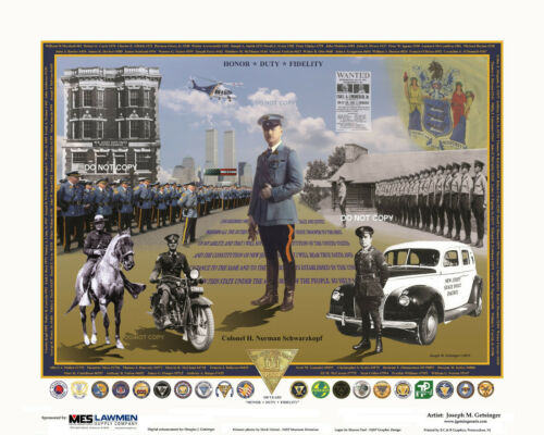 NEW JERSEY STATE POLICE - HONOR DUTY FIDELITY - 100 YEARS - PRINT Official 2021