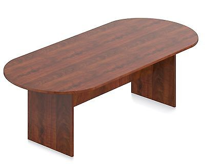 8 Ft. Office Furniture Conference Boardroom Racetrack Table Dark Cherry (Dark Cherry Office Furniture)