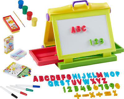 Kinder Malset 87 Teile Maltafel Magnettafel Kindermaltafel Buchstaben ABC Magnet