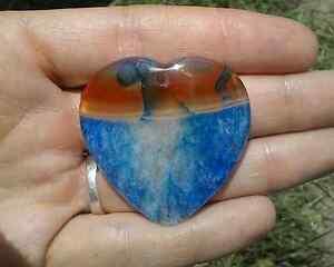 Gemstone pendant bead agate druzy heart jewellery supplies Mudgee Mudgee Area Preview