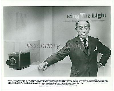 1978 Life Magazine Photographer Alfred Eisenstaedt Original News Service Photo