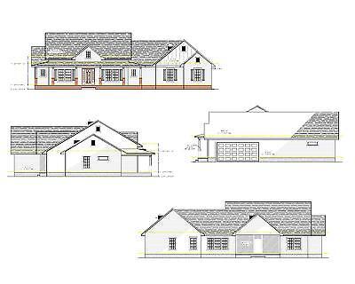 Custom Territory House Plan, 2400 Square Foot