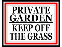 PRIVATE GARDEN PLEASE KEEP OFF THE THE GRASS HOUSE LAWN METAL SIGN PLAQUE 302