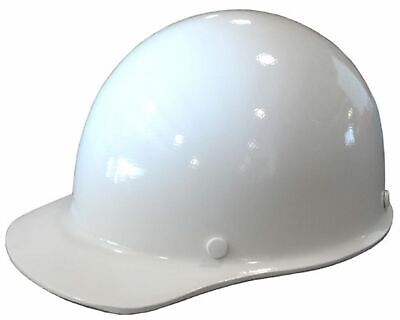 Msa Fiberglass Skullgard Hard Hat White W Staz-on Pin Lock Suspension Large