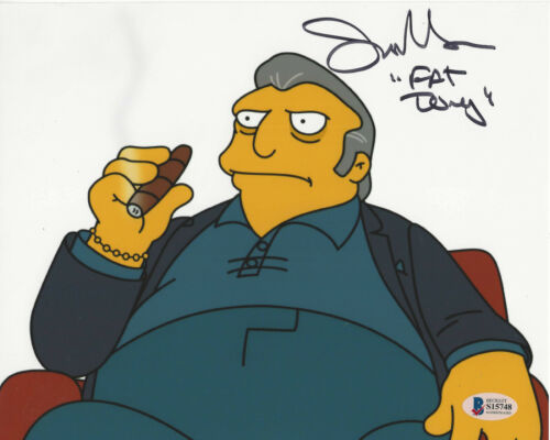 JOE MANTEGNA SIGNED AUTHENTIC 'THE SIMPSONS' FAT TONY 8X10 PHOTO BECKETT BAS COA