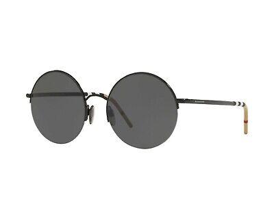 67c08f9490e0 $124.00 USD Buy It Now. Burberry BE 3101 100187 Black Grey Round Unisex Sunglasses  New ...