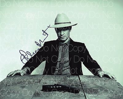 Justified signed Timmothy Olyphant 8X10 photo picture poster autograph RP