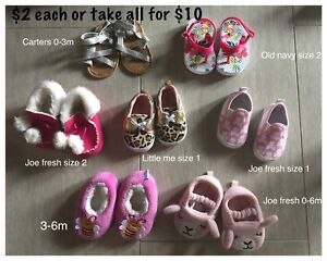 Baby girl shoes/sandals/boots/slippers