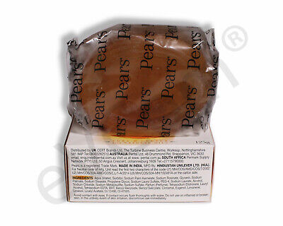 PEARS SOAP Transparent PURE & GENTLE with NATURAL OILS, 125g Bars, 12 or 6 pack