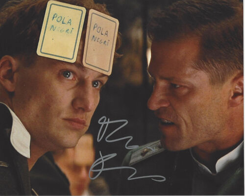 ALEXANDER FEHLING SIGNED 'INGLOURIOUS BASTERDS' 8x10 PHOTO COA ACTOR HOMELAND
