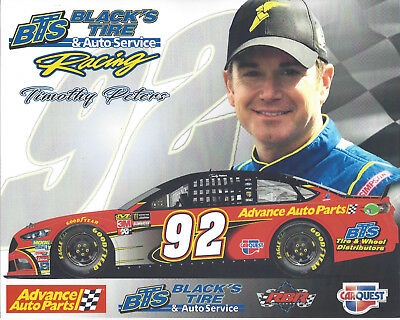 2018 Timothy Peters  Advance Auto Parts   92 Monster Energy Nascar Cup Postcard