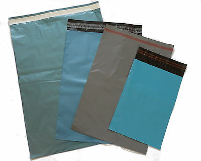 50 MIXED  POSTAL MAIL POST MAILING PACKAGING BAGS   Blue Grey