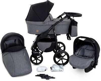 Boston Travel System 3in1 Baby Pram Car seat Pushchair Stroller Carrycot Buggy