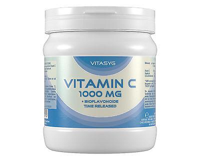 Vitamin C 1000 mg - 500 Vitamin C Tabletten hochdosiert Bioflavonoide Hagebutte