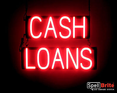 Spellbrite Ultra Bright Cash Loans Sign Neon Look Led Performance