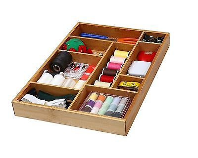 Bamboo Utility Drawer Organizer For Kitchen Bathroom Office And Cosmetics 337
