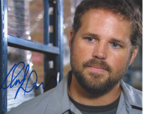 DAVID DENMAN SIGNED AUTHENTIC 'THE OFFICE' ROY 8X10 PHOTO C w/COA 13 HOURS ACTOR