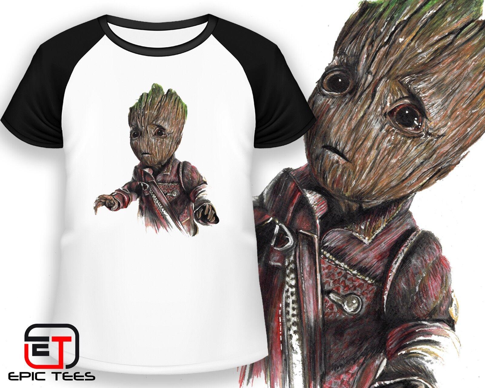 Baby Groot Avengers Hand Drawn Image T-Shirt / Mens / Women'