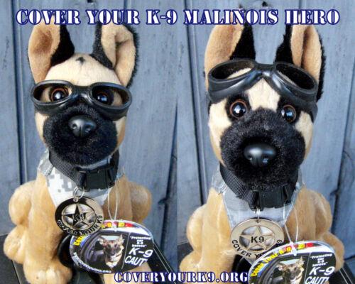 Plush Belgian Malinois MWD Police Dog with Doogles Badge/Camo Vest K9 Fundraiser
