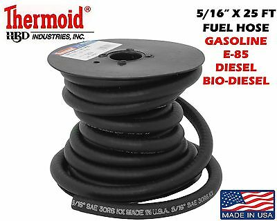 "5/16""X 25 FT SPOOL THERMOID FUEL LINE GASOLINE GAS E-85 BIO DIESEL USA MADE"