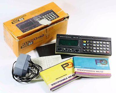 Vintage Soviet calculator Elektronika MK-52 (Russian: Электро́ника МК-52) WORKS!