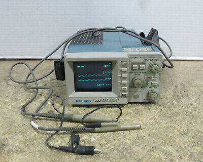 Tektronix 222 2-channel Digital Storage Oscilloscope W Probes Tested Working