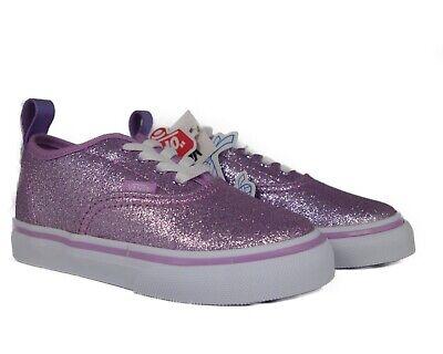 VN0A38E8QQ9 VANS Authentic Elastic Glitter (Lilac / White) Toddler Shoe Size 10