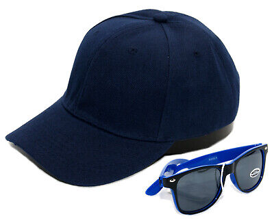 SET Cappy + Sonnenbrille Kinder Kids Junge Jungs Cap Mütze Kappe UV400 Blau neu