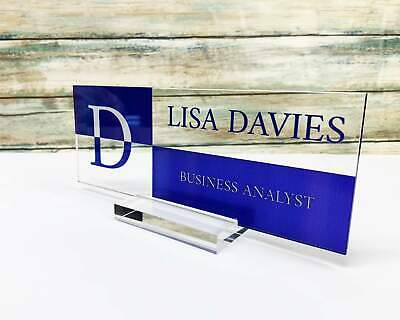 Executive Personalised Desk Name Plate Custom Engraved Sign Office Plaque So