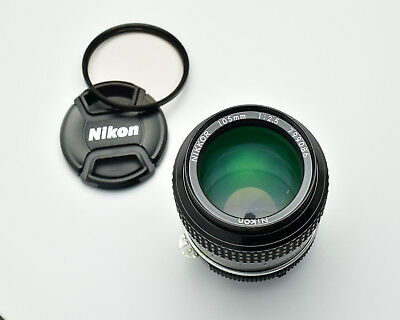 Nikon NIKKOR 105mm f2.5 Ai Short Telephoto Lens Caps Filter Portrait (#3142) for sale  Creswell