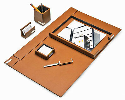 Desk Accessories - Cambridge 6-piece Leather Desk Set