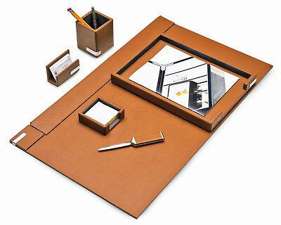 Desk Accessories - Cambridge 6-piece Leather Desk Set