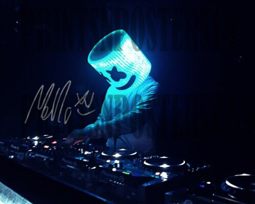 Marshmello 8x10 SIGNED REPRINT Alone Fortnite DJ Dance #3