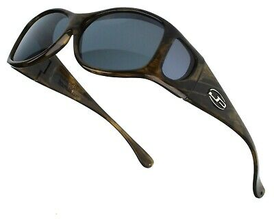 JONATHAN PAUL® FITOVERS EYEWEAR  Glides Brushed Horn Polarized Gray (Fitovers Eyewear)