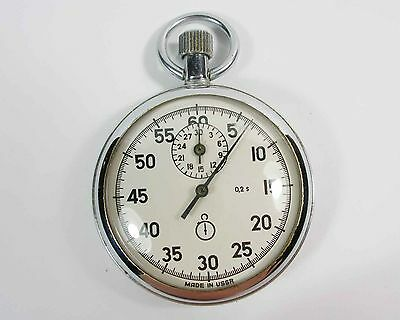Vintage AGAT Russian USSR mechanical STOP WATCH 15 JEWELS (a89)