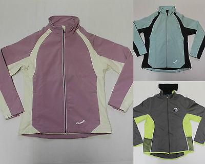 Fahrradjacke Jacken Damen Softshell Laufjacke Funktionsjacke grau lila türkis