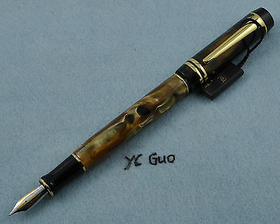 Kaigelu (kangaroo) 316 Amber Fountain Pen Medium Nib Without Box for sale  Shipping to Canada