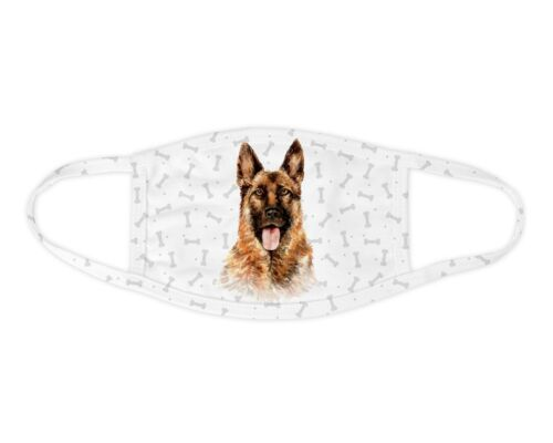 Watercolor German Shepherd Face Mask Washable Face Covering