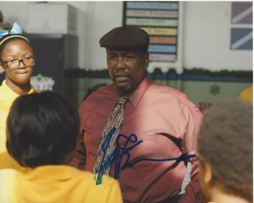 WENDELL PIERCE SIGNED AUTHENTIC 'THE WIRE' BUNK 8X10 PHOTO F w/COA ACTOR TREME
