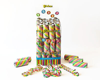 Multi Coloured Party Streamers Bulk Box of 54 Rolls - Coloured Streamers