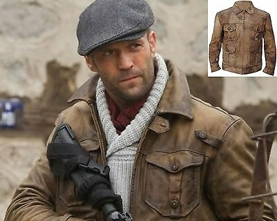 The Expendables 2 Jason Statham Genuine Distressed Leather Jacket , ALL SIZES