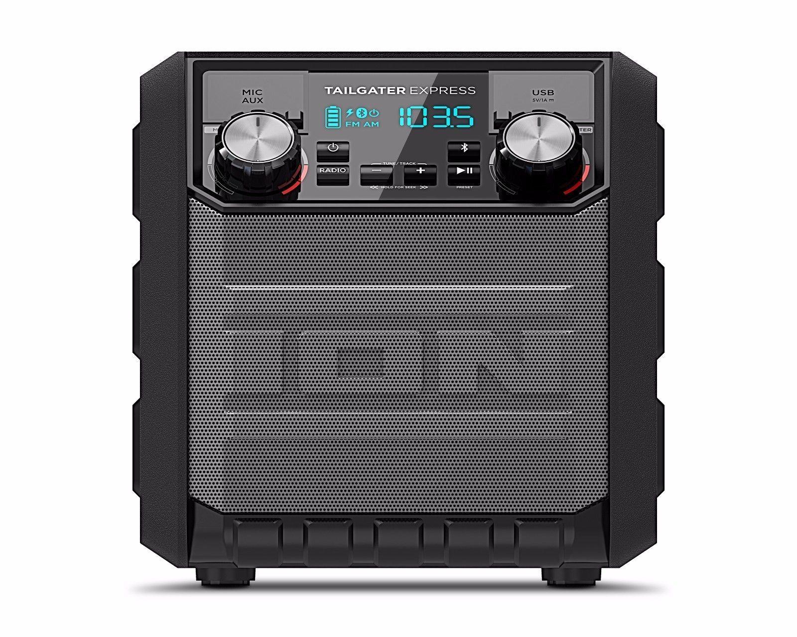 ION - Tailgater Express Portable Bluetooth Speaker - Black